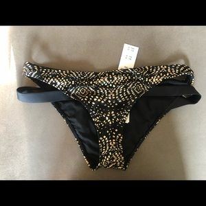 Black and Gold Bikini Bottoms